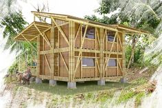 21 Steps to Building a Norwegian Loft House - Walden Labs Bamboo Roof, Bamboo Art, Bamboo House, House Deck, Loft House, House Roof, Bamboo Building, Natural Building, Building A House