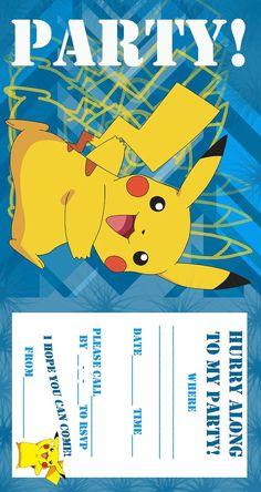 Pokemon Birthday Invitations Free Printable