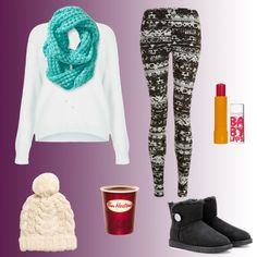 Cold Winter Day! by morgan74 on Polyvore featuring Topshop, UGG Australia, Aéropostale, H