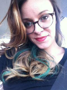 Mechas coloridas com Hairchalk « Tinta no Cabelo
