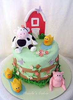 Confections, Cakes & Creations!: Farm Themed Baby Shower Cake!