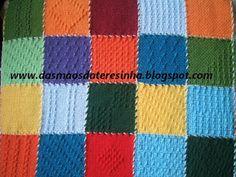 Das Mãos da Teresinha: Manta de tear de pregos (weavette loom)