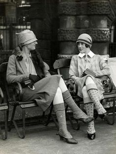 Flappers' fancy socks & stockings, legs were out for the first time and so they were adorned in all manner of coverings to show them off