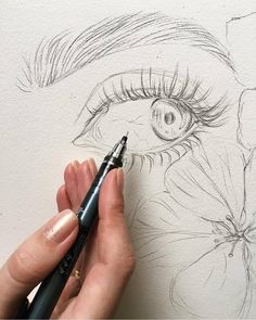"6,010 Likes, 34 Comments - ArteVM (@artevm) on Instagram: ""Amazing Art by: @lesya_poplavskaya ____________________________ Drawing in progress #sketch #eye…"""