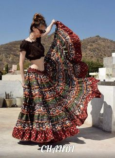 India Skirt boho freepeople Style Gypsy TRIBAL FUSION BellyDance Banjara 25 Yard #bohofashionover40olderwomen