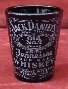 ONE Solid Black Shot Glass, JACK DANIELS No 7 Whiskey on Etsy, $7.99