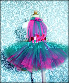 Hot Pink & Teal tutu dress...I LOVE this I'm going NM to try to make it.