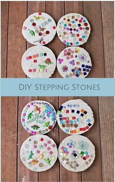 Stepping stones are a fun, easy and creative outdoor project to make with the kids!