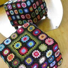 Transcendent Crochet a Solid Granny Square Ideas. Inconceivable Crochet a Solid Granny Square Ideas. Love Crochet, Crochet Motif, Knit Crochet, Crochet Patterns, Crochet Pouf Pattern, Cowl Patterns, Crochet Home Decor, Crochet Crafts, Crochet Projects