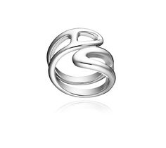 Chaîne d'Ancre Twist Hermes ring in sterling silver, PM, size 53  The Chaine d'Ancre collection draws inspiration from a ship's anchor chain to create a jewel. Here the classic link sees itself stretched to the extreme, distorted and finessed with elegant lines, perfect for everyday wear.