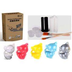 5-Colour 3D Print Surface Coating - 5 x 50mls 3D Printer Coating Liquid
