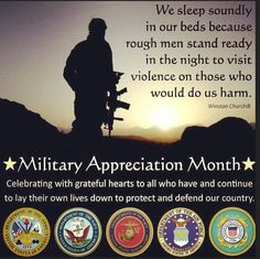 May is Military Appreciation month!❤ Wear RED on Fridays in honor of our HEROES, until they ALL come home safe! Military Month, Military Love, National Military Appreciation Month, Remember Everyone Deployed, Military Girlfriend, Military Spouse, Military Families, Military Service, Appreciation Quotes