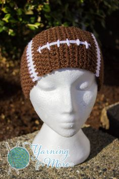 SOOOO Getting one of these!! <3 Crochet Football Ear Warmer Headband by YarningforMore2011 on Etsy, $16.00