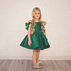 Just think how BEAUTIFUL your little girl will look in one of our holiday dresses. 😍 Ezmeralda Dress with Gjergjani Kids Shoes  Hot Seller - so don't delay!  SHOP: ittybittytoes.com