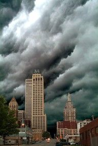 Storm over downtown Tulsa, Oklahoma. Amazing capture! Please pray for all the people in Oklahoma today that had massive destruction in Moore, OK. due to tornado. I have family there & haven't heard from them.
