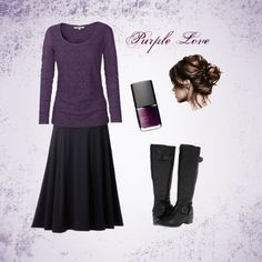 """Purple Love"" by isongirls on Polyvore...cute not sure about the skirt though"