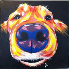 Golden Retriever painted by Nick McMullen. Get your pet painted by Nick at http://www.etsy.com/listing/178515541/custom-pet-portraits-and-more-whatever