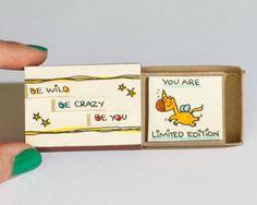 Cute Unicorn Card / Friendship Card / Inspirational by shop3xu