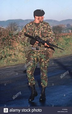 Download this stock image  British Army soldier on patrol in South Armagh  during The Troubles 969049e882