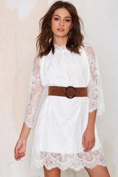 Pretty White Lace Dress