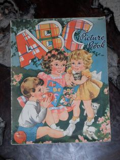 BEAUTIFUL VINTAGE CHILDREN'S 'Abc Picture book