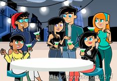Celebrating the Good Times by ScarletGhostX on DeviantArt Danny Phantom Sam, Sams C, Cartoon Profile Pics, Profile Pictures, Fairly Odd Parents, Prom Girl Dresses, Cartoon Crossovers, Broken Leg, Couple Cartoon