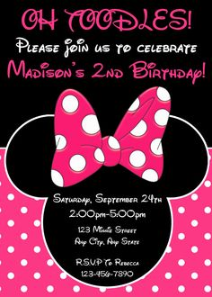 Minnie Mouse Birthday Invitation Minnie by LittleGermanBoutique
