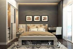 Thiết kế nội thất phòng ngủ đẹp căn hộ Sunrise City - North Towers #bedroom #noithatphongngu