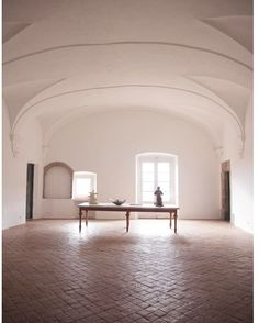 ormondeditions|Simplicity at its best| #vaults #architecture #interior #table #furniture #italy #furniture #ceramic #floor #tiles #light