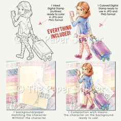 Bon Voyage! - Digital Stamp