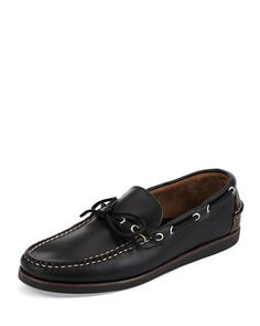 N3WH7 Eastland Made in Maine Yarmouth USA Leather Boat Shoe, Black