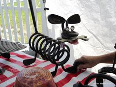 Recycled Metal Art at the Odessa Organic Market in Odessa-Florida