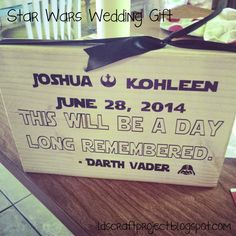 LDS Craft Project: Star Wars wedding gift