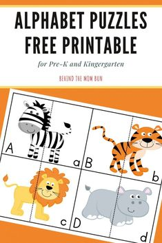 Learning is always an adventure but even more so with these furiously cute alphabet puzzles. Kids will have a wild time matching upper and lowercase letters. #alphabetpuzzles #lettermatching #preschool Abc Activities, Toddler Learning Activities, Fun Learning, Free Printable Puzzles, Free Printables, Alphabet Practice Sheets, Alphabet Games, Abc Coloring Pages, Upper And Lowercase Letters