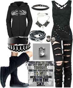 None of you know me, but if you need to know anything: This is what Im all about. Dark, punk, rebel. That's all.