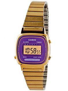 LA670WGA-6 Purple Casio Ladies WatchiInspired by designs from 1998/i