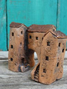 Miniature group of Medieval tunnel houses by theCherryHeart