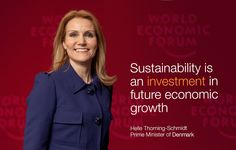 Helle Thorning-Schmidt at the World Economic Forum Annual Meeting of the New Champions.