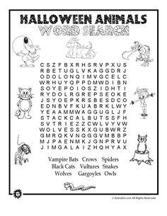 Halloween Animals Word Search