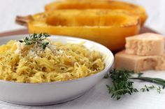 From the Raisin & Fig blog: Spaghetti Squash w/ Parmesan & Fresh Herbs