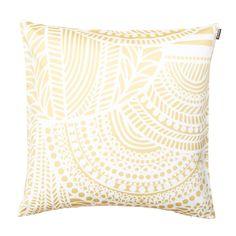 Vuorilaakso Cushion Cover 50x50 cm, White/Gold, 201