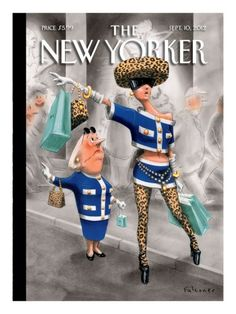 """The older, well-dressed lady on this week's cover, """"Stiff Competition,"""" by Ian Falconer, has made many appearances since her début in The New Yorker… The New Yorker, New Yorker Covers, New Yorker Cartoons, Storyboard, Ian Falconer, Ying Y Yang, Illustration Arte, Old Money, Ptsd"""