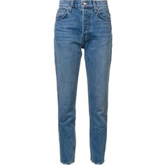 Derek Lam 10 Crosby Lou high-rise classic straight leg jeans ($235) ❤ liked on Polyvore featuring jeans, pants, bottoms, trousers, denim, blue, high waisted straight leg jeans, high rise straight leg jeans, high waisted blue jeans and 10 crosby derek lam