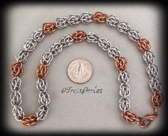 04  Chain Maille Kette  Chainmaille Necklace von TroisPerles