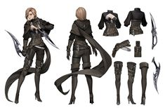 ArtStation - Assassin, Jooyoung Park Female Character Design, Character Design References, Character Design Inspiration, Character Concept, Character Art, Warrior Outfit, Warrior Girl, Fantasy Warrior, Fantasy Girl