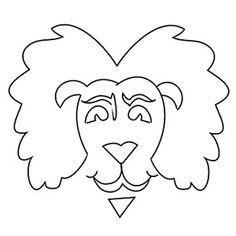 Halloween Printables: Jack O'Lantern Template: Lion (via Parents.com)