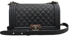 Sacs à main Chanel Boy Old Medium caviar