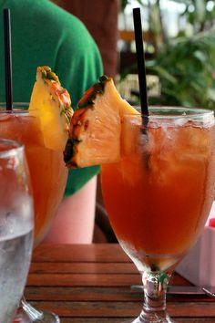 Van Gogh Pineapple Vodka tropical cocktail