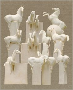 Equine Artist and Sculptor: Susan Leyland's Block Horse Sculptures I'm obsessed with these sculptures!!