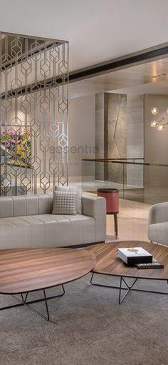 Entworfen und gestaltet von Monica Chawla für essentia … - Beste Just Luxus Divider Screen, Interior Architecture, Interior Design, Partition Design, Grill Design, Wooden Decor, Premier Designs, Planer, Decor Styles